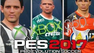 PES 2017 PATCH BRASILEIRÃO [XBOX 360] (TODAS AS FACES)