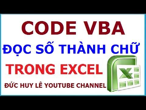 Cách đọc số thành chữ trong Excel không bị lỗi font