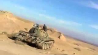 FSA rebels use tanks in siege of Deir Ez zors airport   YouTube