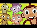 Five Little Monkeys Song | HooplaKidz Nursery Rhymes & Kids Songs