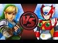 LINK vs ZERO (Megaman)! Cartoon Fight Club Episode 74