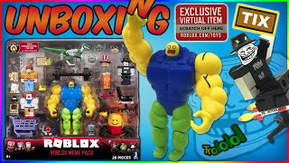 Buff Roblox Noob Avatar Roblox Meme Pack Code Item Unboxing Youtube