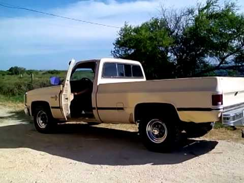 1985 chevy scottsdale dual straight pipe youtube. Black Bedroom Furniture Sets. Home Design Ideas