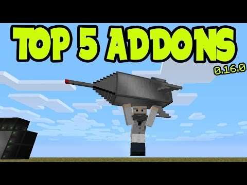 TOP 5 Minecraft Pocket Edition ADDON + BEHAVIOR PACKS!! // MCPE 0.16.0 TOP 5 ADDON PACKS!