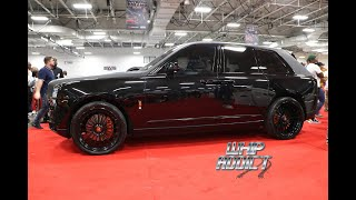 Rapper Fabolous's Rolls Royce Cullinan on Forgiato 24s, Floating Big Caps, Two Tone Black Wrap
