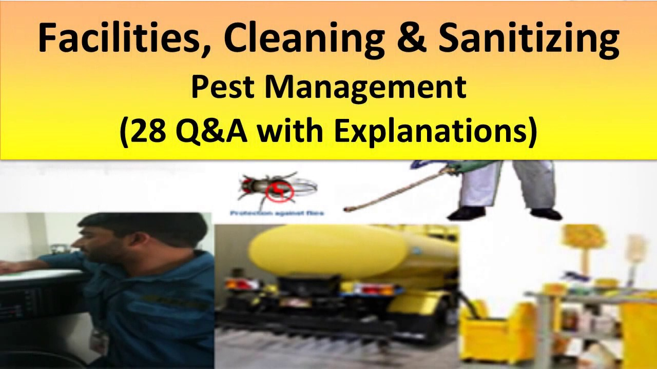 ServSafe Study Guide- Facilities, Cleaning & Sanitizing, and Pest Management