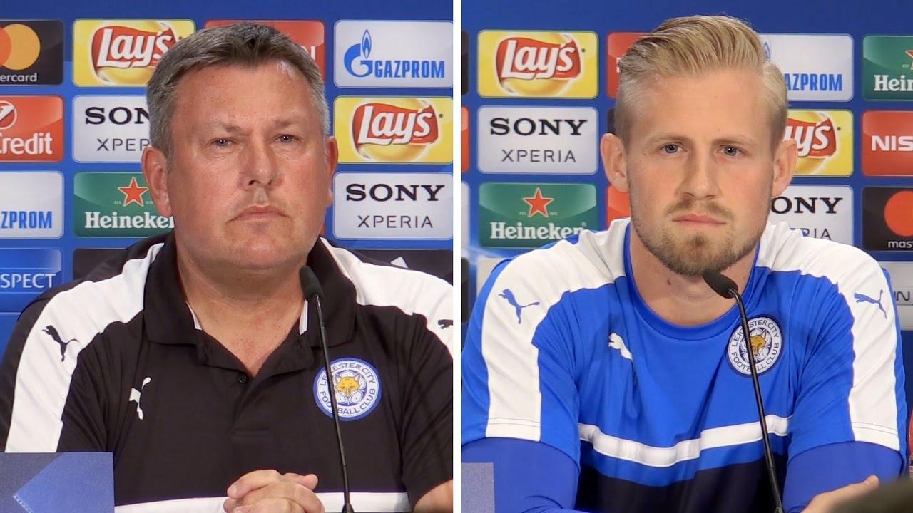 Craig Shakespeare & Kasper Schmeichel Pre-Match Press Conference - Atletico Madrid v Leicester C