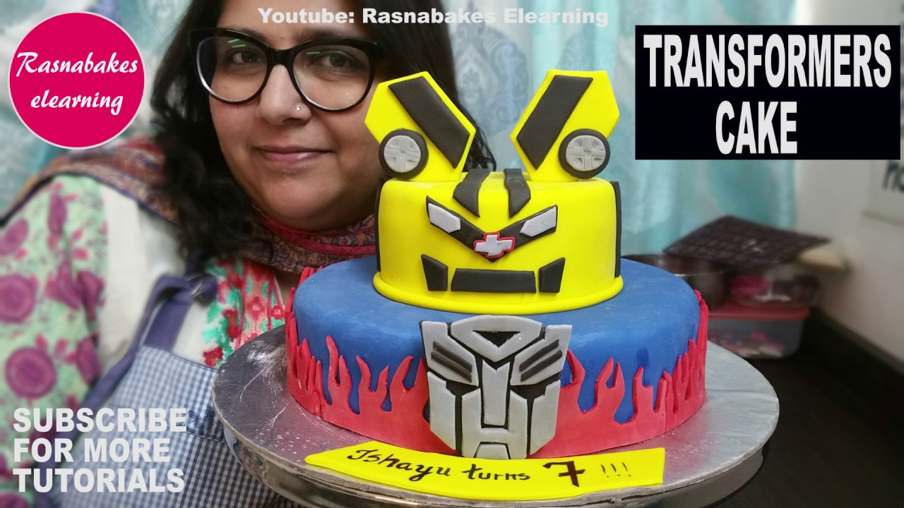 How To Make 3d Fondant Transformers Bumblebee Movie Cake Designhappy Birthday Ideasboys Girls