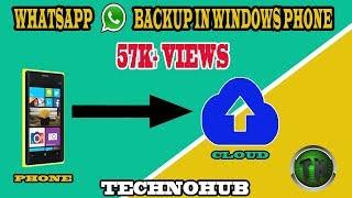 How to take whatsapp backup in windows phone