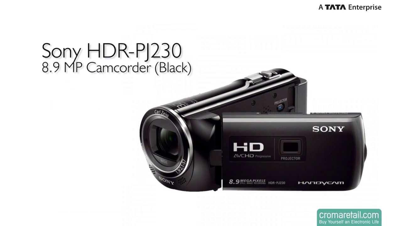 Sony Hdr Pj230 8 9 Mp Camcorder Black Youtube