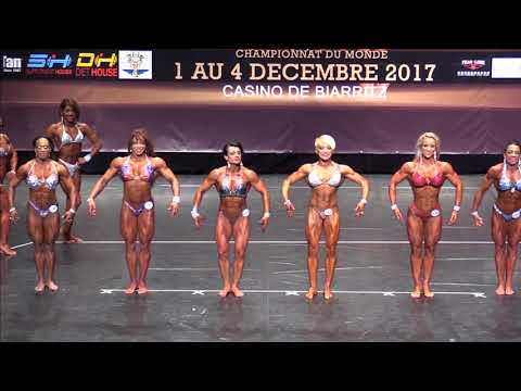 Women's Physique up to 163 at the IFBB World Fitness Championships 2017 (Biarritz), comparison 2