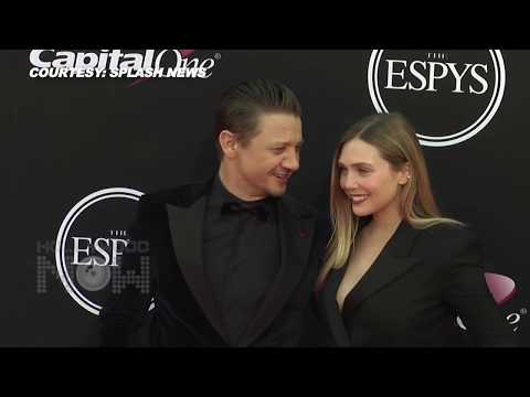 Elizabeth Olsen & Jeremy Renner Asked To KISS At 2017 ESPY Awards Red carpet