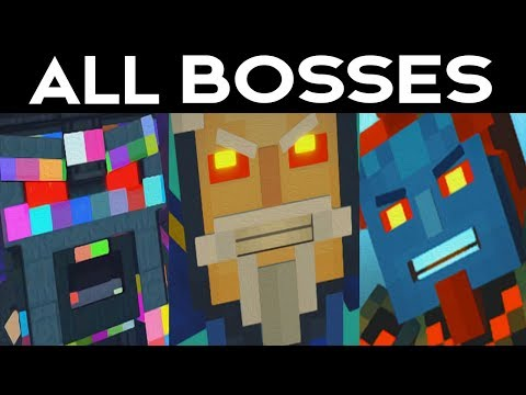 Minecraft Story Mode Season 2 Episode 5 - ALL BOSSES / SECRET COLOSSUS BOSS FIGHT
