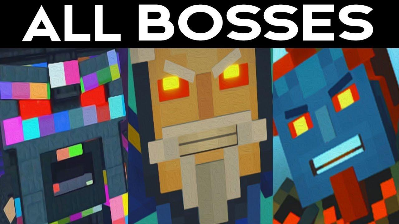 Minecraft Story mode Season 2 Episode 5 - ALL BOSSES / SECRET