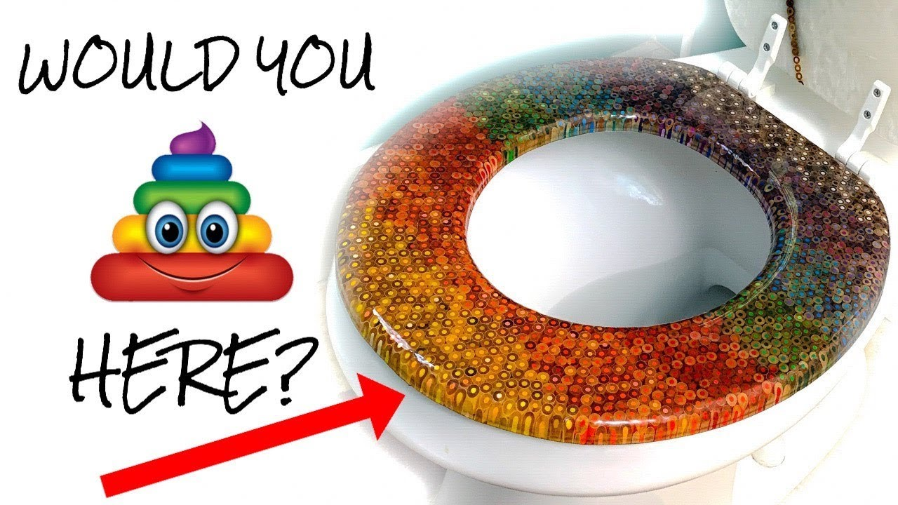 I Made A Toilet Seat Out Of 499 Colored Pencils