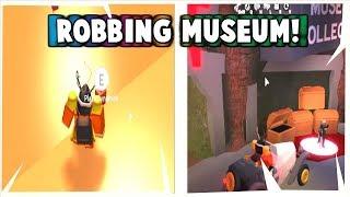 ROBBING THE MUSEUM SUCCESSFULLY IN ROBLOX JAILBREAK!!!