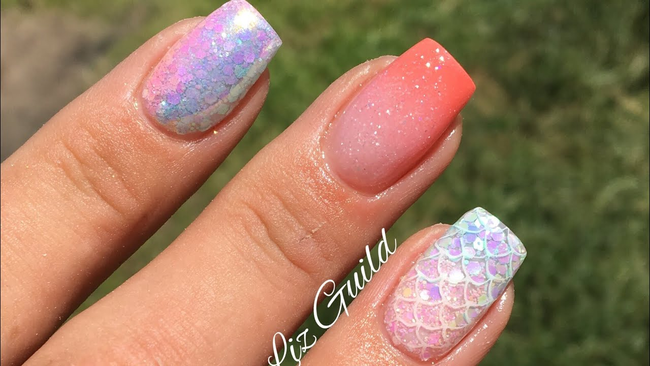 SHORT SQUARE SUMMER ACRYLIC NAILS