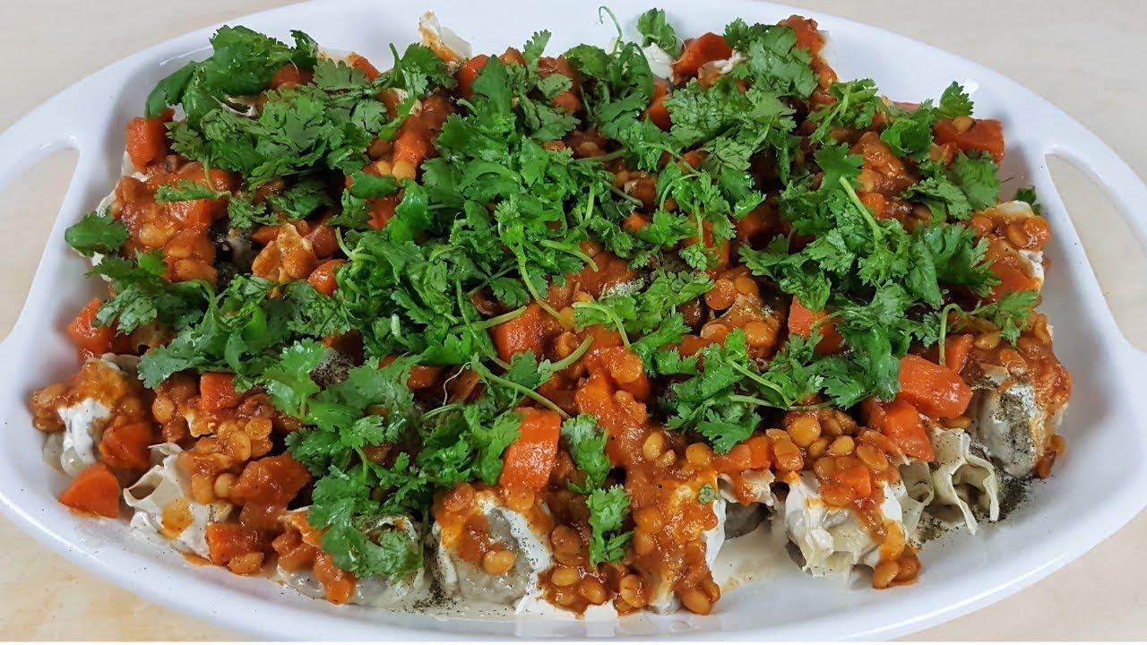 Beef Dumplings Afghan Mantu With Farsi Dari Subtitle Afghan Food Recipes طرز تهیه منتو افغانی Youtube