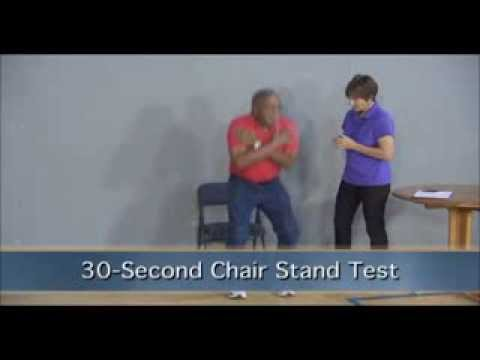 chair stand test measure charcoal grey covers senior fitness second edition youtube