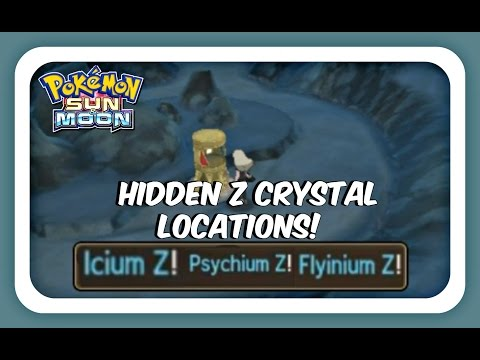 HIDDEN Z CRYSTALS - Flying Psychic and Ice Z Crystal Locations - Pokemon Sun and Moon