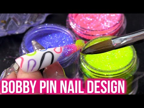 BOBBY PIN NAIL ART  - Acrylic Nail Tutorial