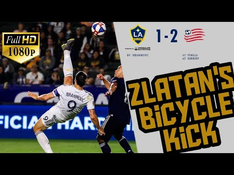 Zlatan Ibrahimović superb Bicycle Kick, LA Galaxy vs England Revolution -Goals & Skills 2019