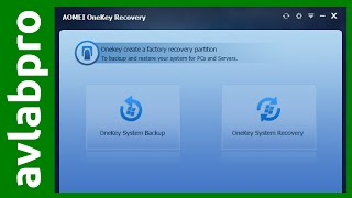 AOMEI OneKey Backup and Recovery Free