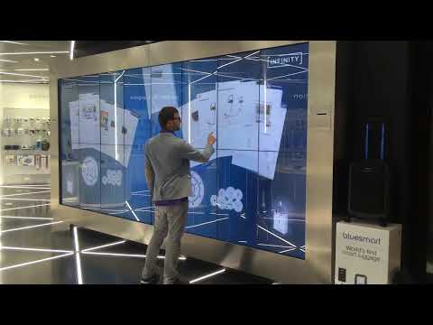 Interactive Shopping Wall at Hamad International Airport in Doha