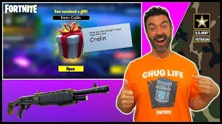 Fortnite Gifting & NEW Pump Shotgun - Battle Royale - Camper Cralin (50 year old gamer)