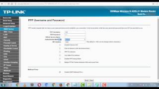 كيفية تسريع الانترنت لراوتر TP-Link model noTD-W8960N  من خلال MTU