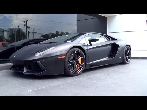 Black Matte New Lamborghini Aventador Lamborghini Huracan Start Up