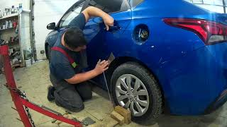Хундай солярис ремонт крыла Нижний Новгород Hyundai Accent Auto body repair