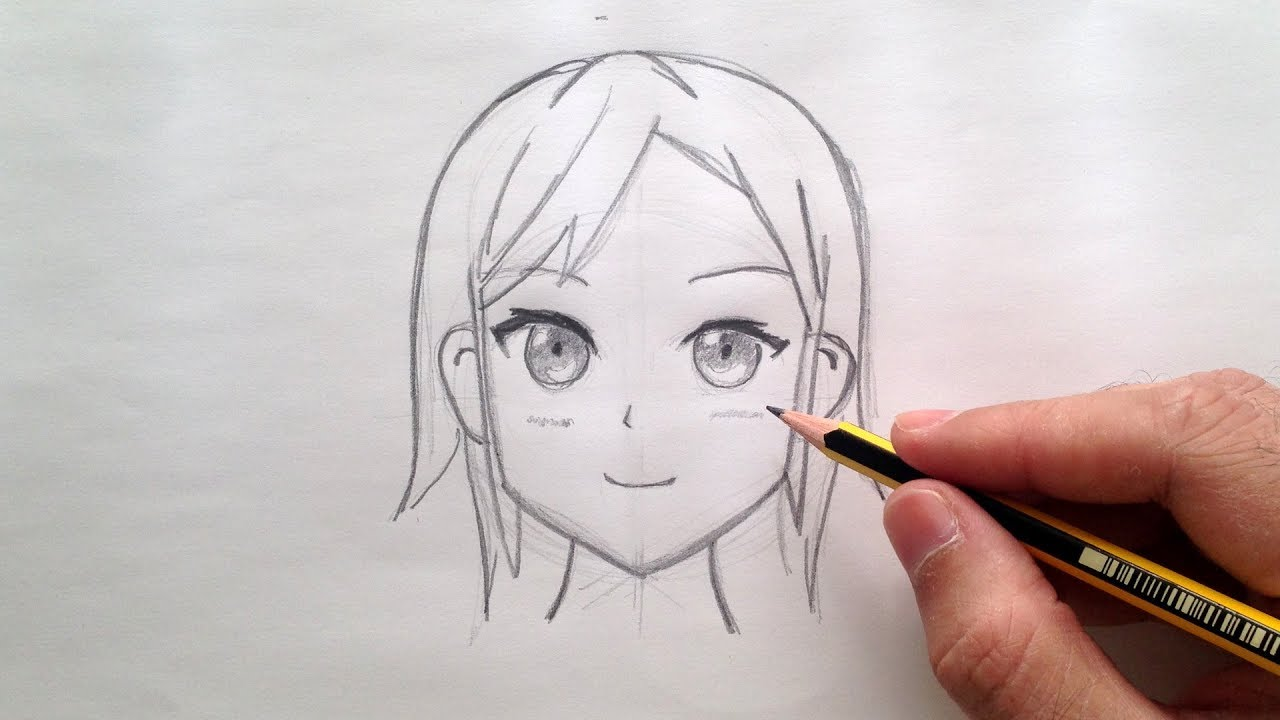 Como Dibujar Una Cara Anime Youtube