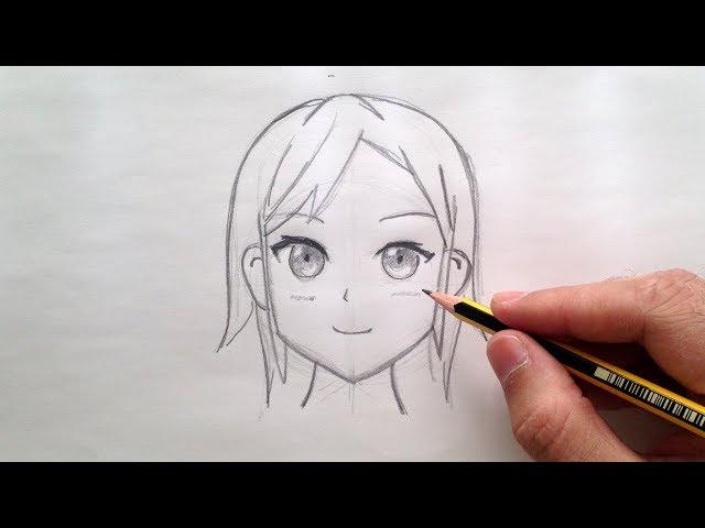 Como dibujar una cara anime