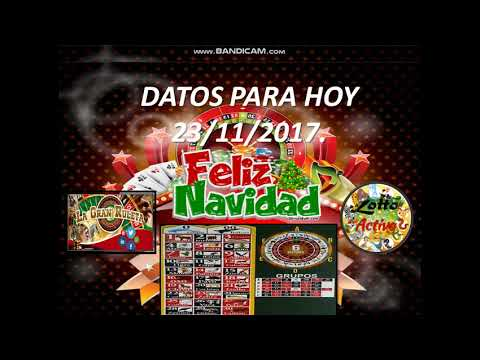 "DATOS PARA EL LOTTO ACTIVO Y GRAN RULETA  22/11/2017 ""EL DATERO12"""