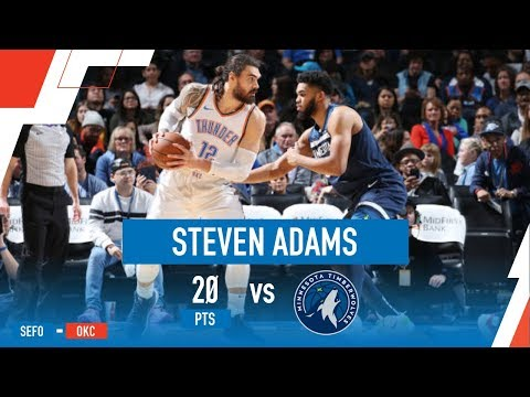 Steven Adams Drops 20 on 8-9 Shooting vs Towns, Timberwolves | January 8th, 2019