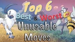 Top 6 Best aฑd Worst Unusable Moves in Pokémon as of Gen 8