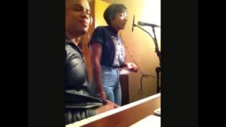 Soleil Laurent in studio with producer Jay Williams