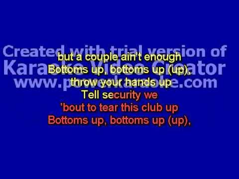 Trey Songz - Bottoms Up (feat. Nicki Minaj) karaoke