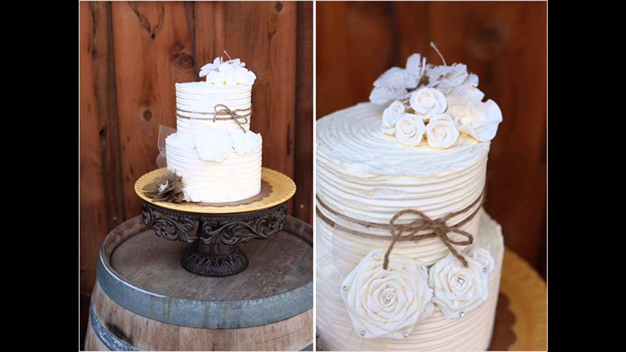 Cool Rustic wedding cakes ideas - YouTube
