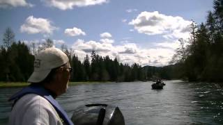 Cowlitz river fishing with Ron Holt!! ( excuse the prophanity)