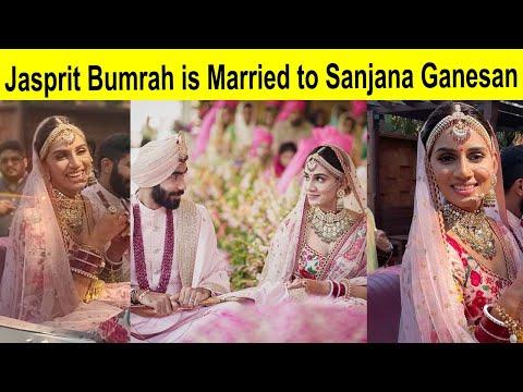 Jasprit Bumrah is Married to Sanjana Ganesan