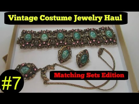Vintage Costume Jewelry Haul #7 May 2016 High End Collection Ep 02 Sets