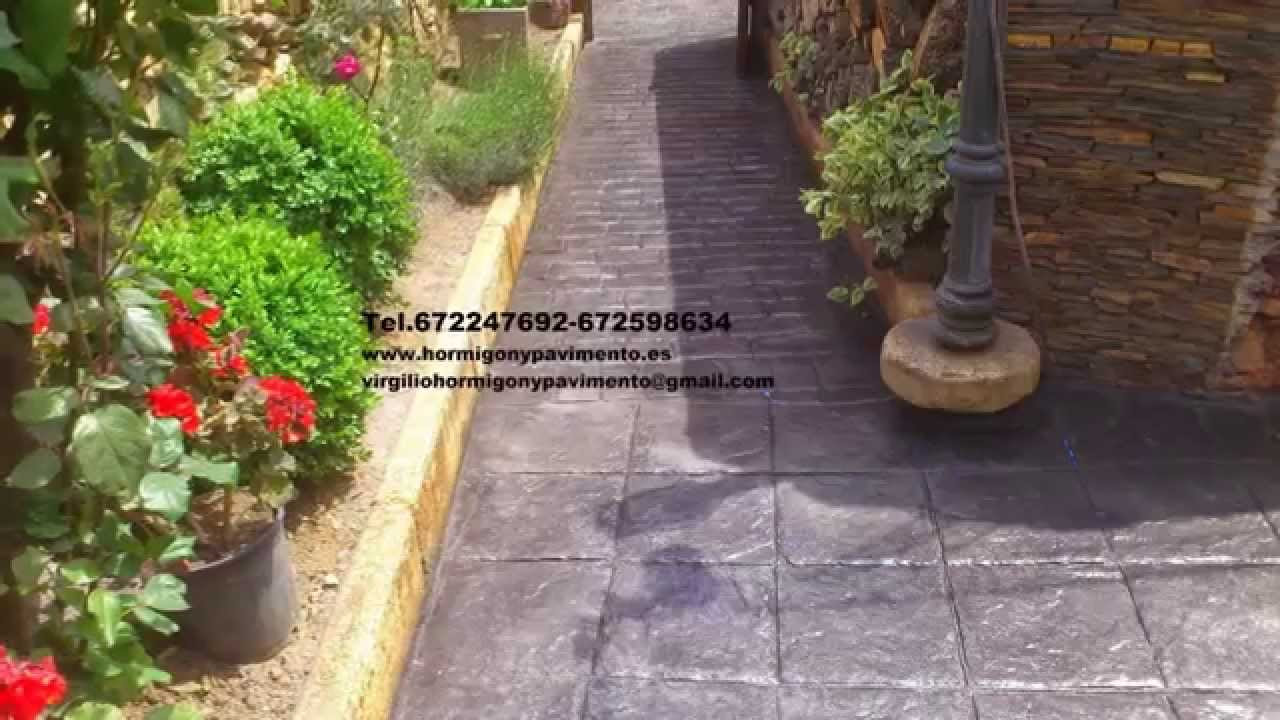 Hormigon impreso brico depot youtube 672247692 brico depot for Bordillos para jardin brico depot