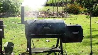 Oklahoma Joe's Smoker Smoking