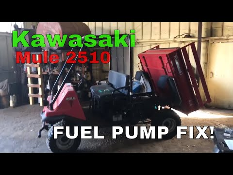 Kawasaki mule 2510 fuel pump issue AFFORDABLE FIT - YouTube on