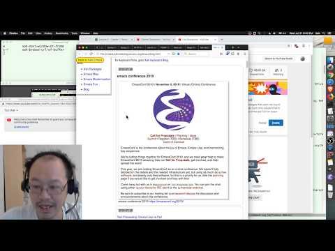 Xah Talk Show 2019-07-31 EmacsConf 2019, Emacs Meetup SF, Elisp Live Coding Html Xah-new-page
