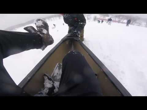 Snow Canoe Hits Girl