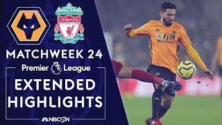 Wolves v. Liverpool | PREMIER LEAGUE HIGHLIGHTS | 1/23/2020 | NBC Sports