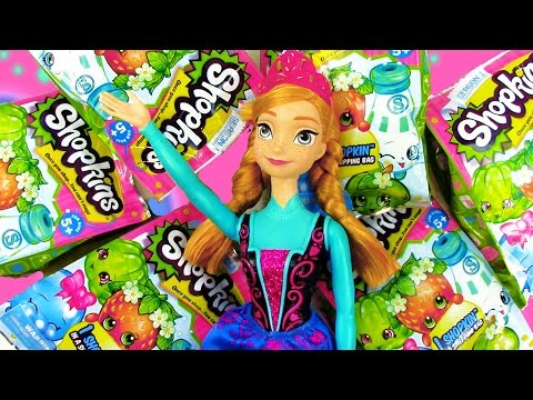 Disney Shopkins 1 Pack Mystery Blind Bag Basket Opening Unboxing Review Princess Anna